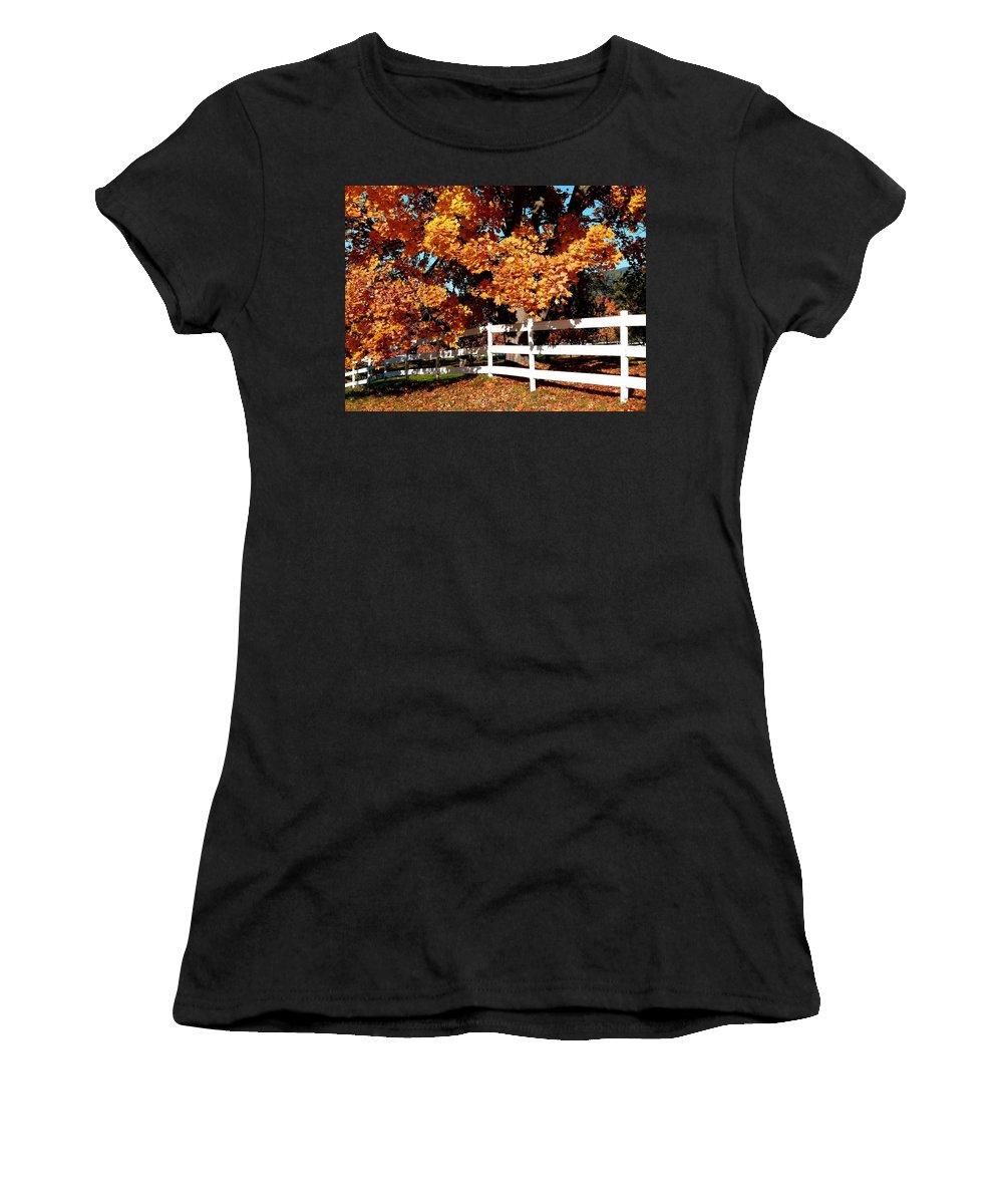 Autumn Splendor 10 Women's T-Shirt (Athletic Fit) featuring the photograph Autumn Splendor 10 by Will Borden