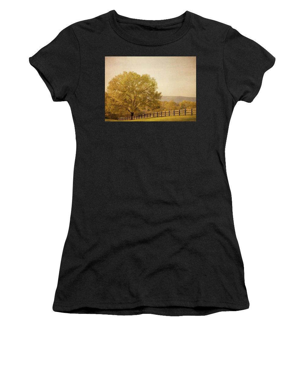 Autumn Women's T-Shirt (Athletic Fit) featuring the photograph Autumn Wonders by Kim Hojnacki