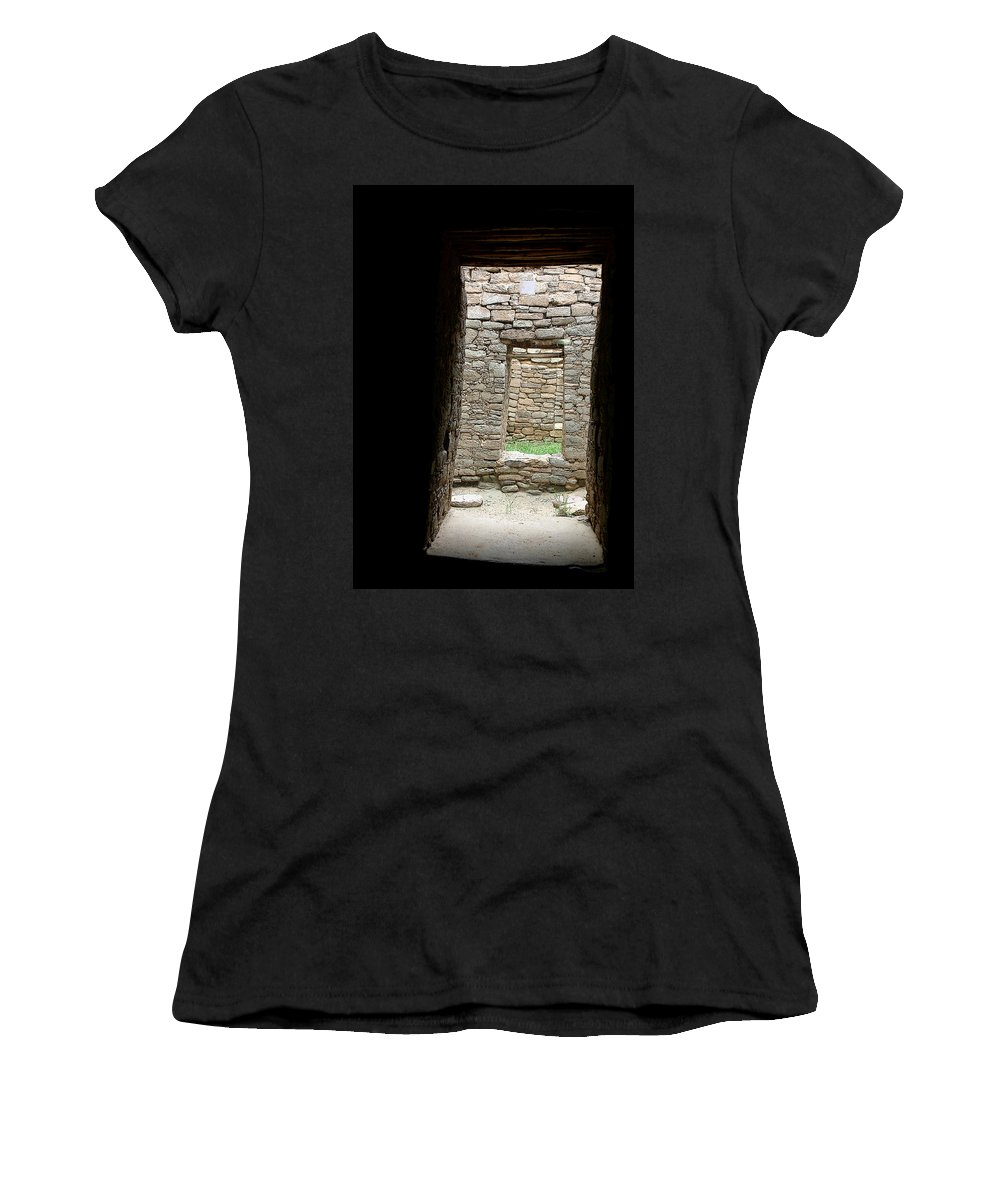 Ruins Women's T-Shirt (Athletic Fit) featuring the photograph Aztec Doorway by Joe Kozlowski