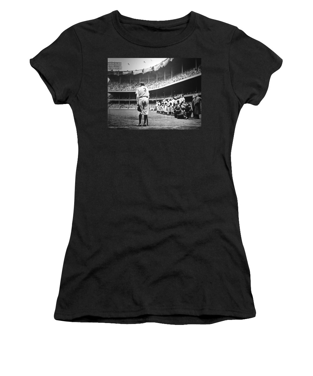 Babe Women's T-Shirt featuring the photograph Babe Ruth Poster by Gianfranco Weiss