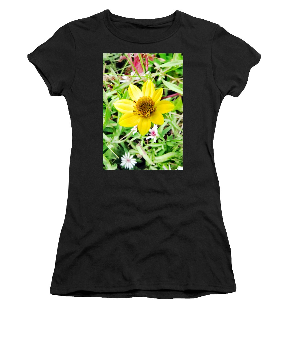 Flower Women's T-Shirt featuring the photograph Baby Daisy by Art Dingo