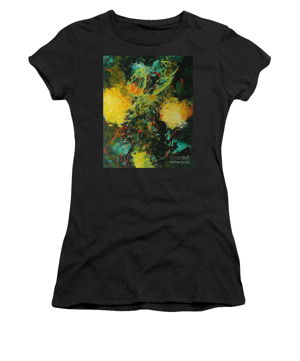 Landscape Women's T-Shirt (Athletic Fit) featuring the painting Back To Eden by Allan P Friedlander