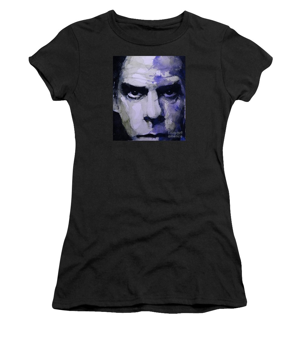 Nick Cave Women's T-Shirt featuring the painting Bad Seed by Paul Lovering