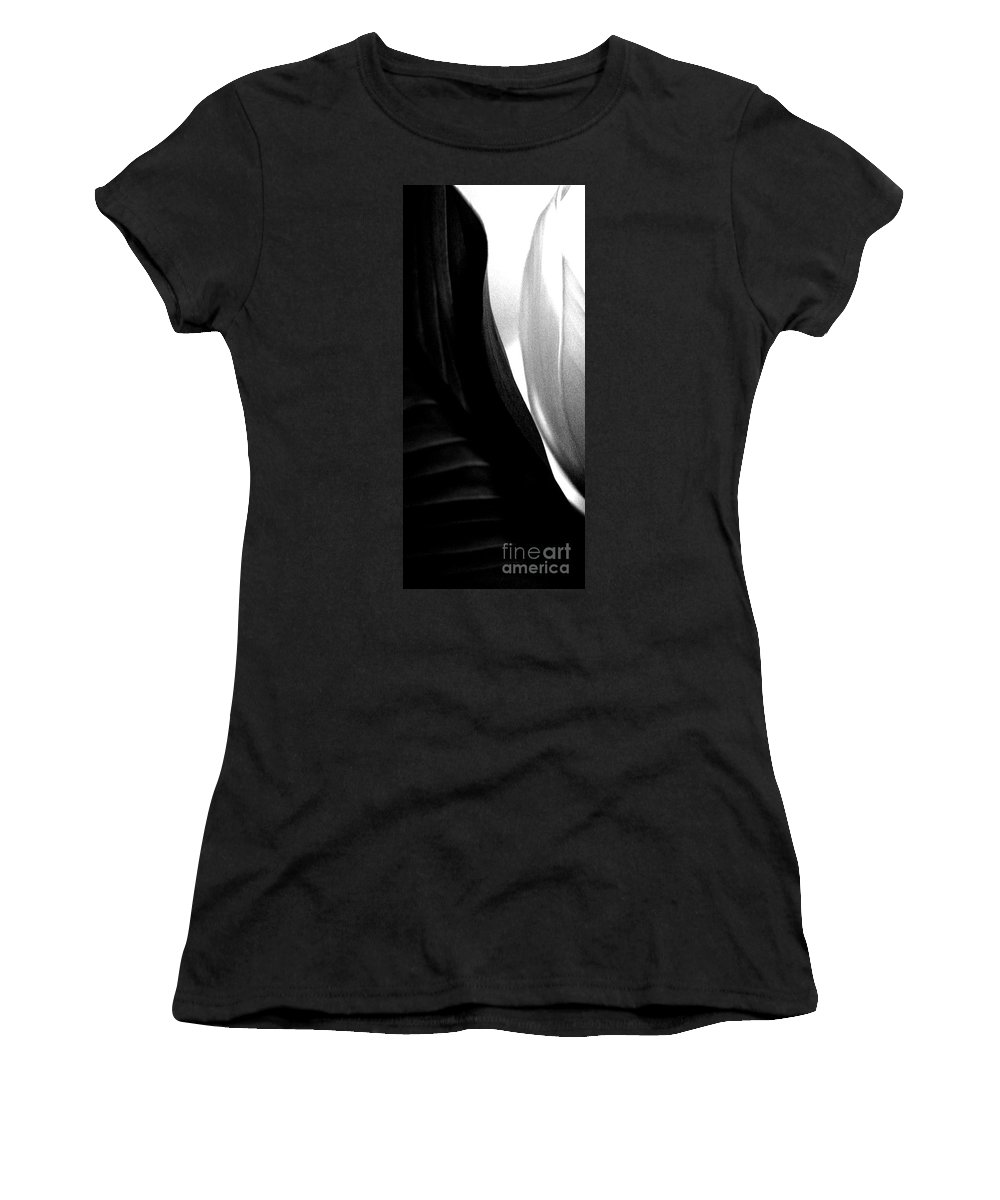 black And White Prints Women's T-Shirt (Athletic Fit) featuring the photograph Balance by Amanda Barcon