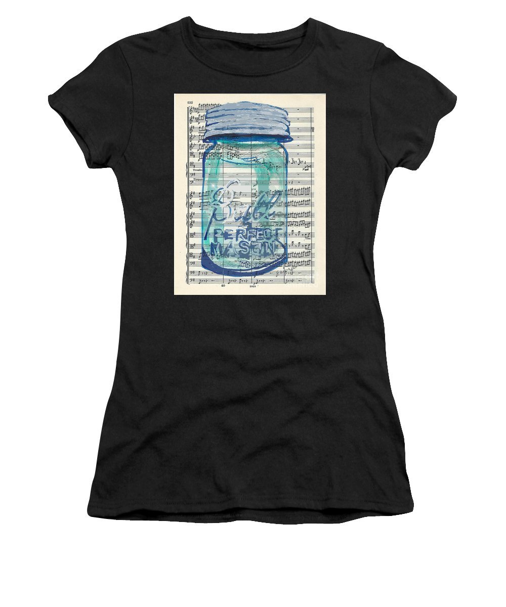 Vintage Women's T-Shirt (Athletic Fit) featuring the painting Ball Jar Classical #132 by Ecinja Art Works