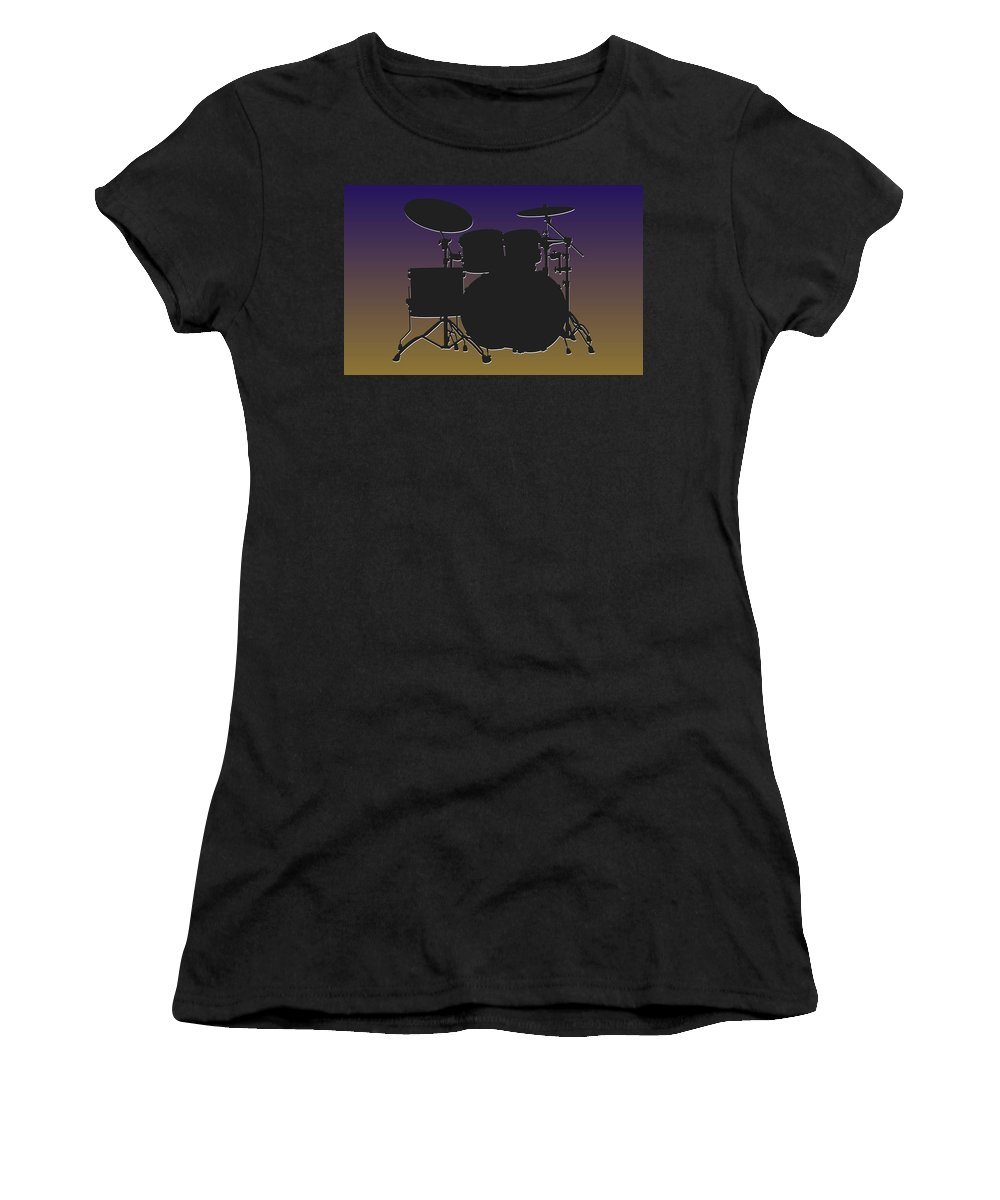 Ravens Women's T-Shirt (Athletic Fit) featuring the photograph Baltimore Ravens Drum Set by Joe Hamilton