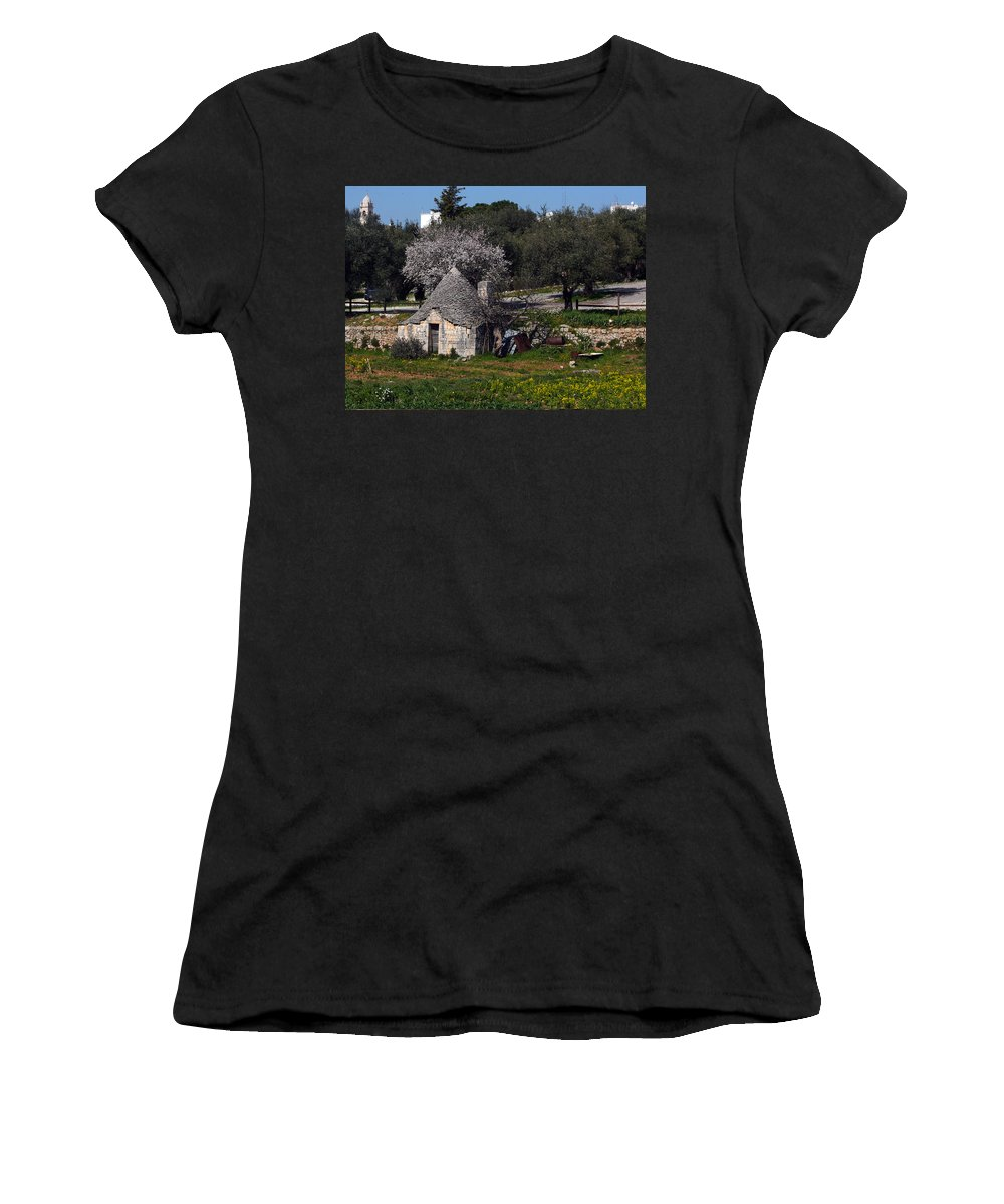 Karen Zuk Rosenblatt Women's T-Shirt featuring the photograph Bari 1 by Karen Zuk Rosenblatt