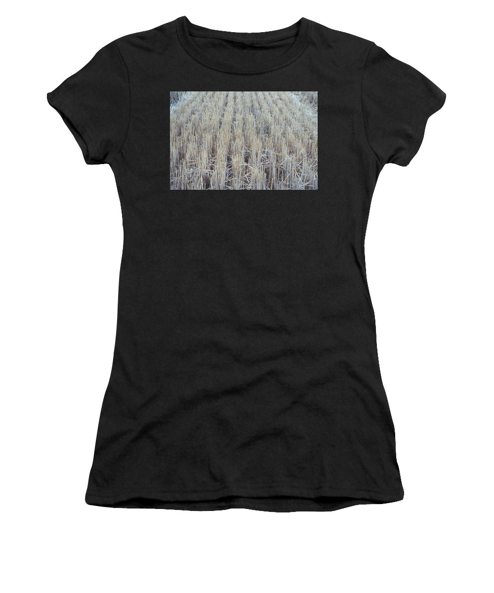 Barley Women's T-Shirt (Athletic Fit) featuring the photograph Barley by James Michael Olson