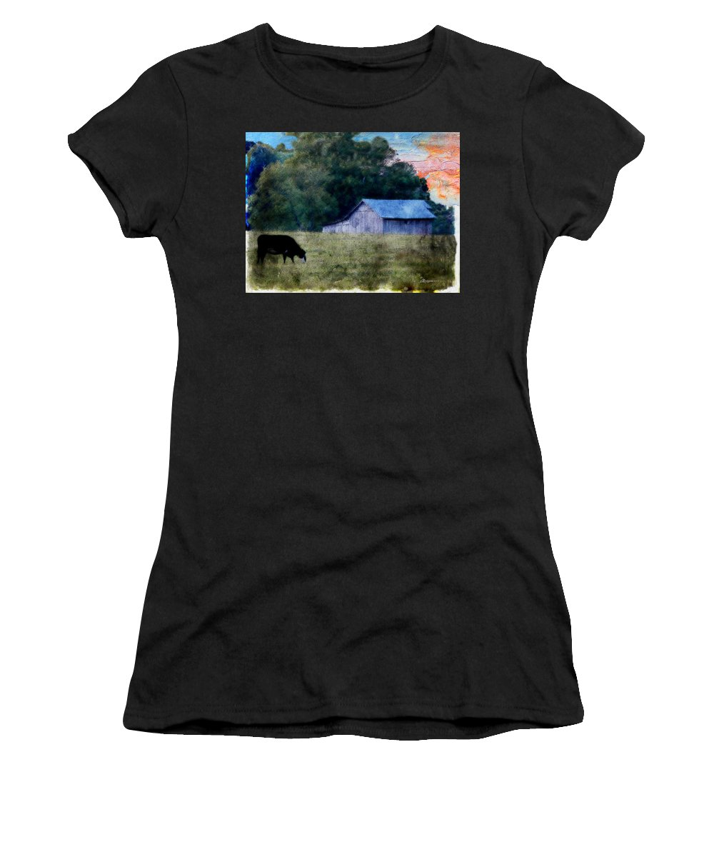 Barn Women's T-Shirt featuring the photograph Barn 30 Pastel by Ericamaxine Price