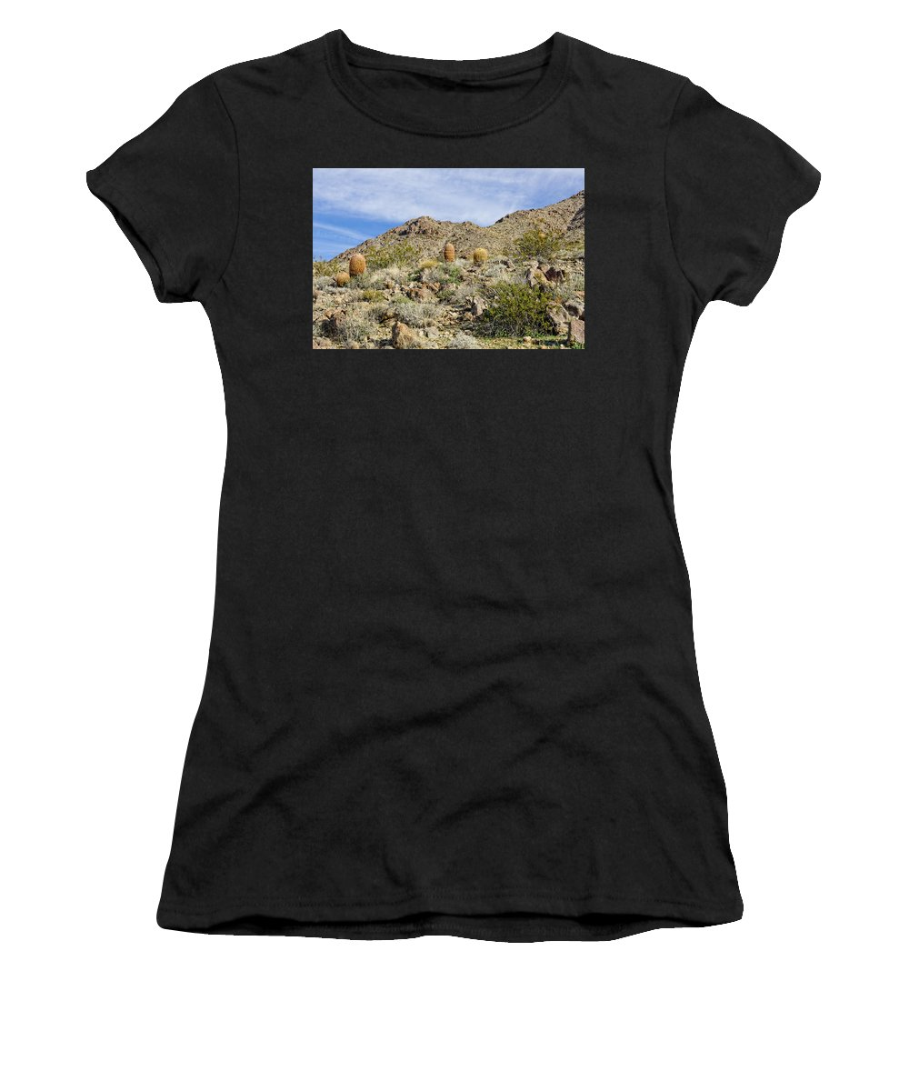 Cactus Women's T-Shirt (Athletic Fit) featuring the photograph Barrel Cactus by Jim Thompson