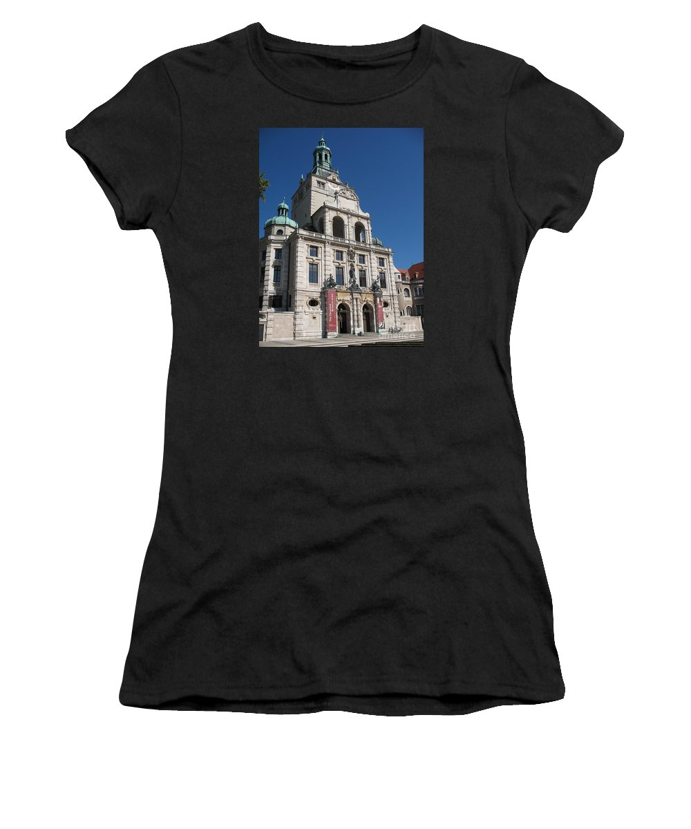 Museum Women's T-Shirt (Athletic Fit) featuring the photograph Bavarian National Museum by Christiane Schulze Art And Photography