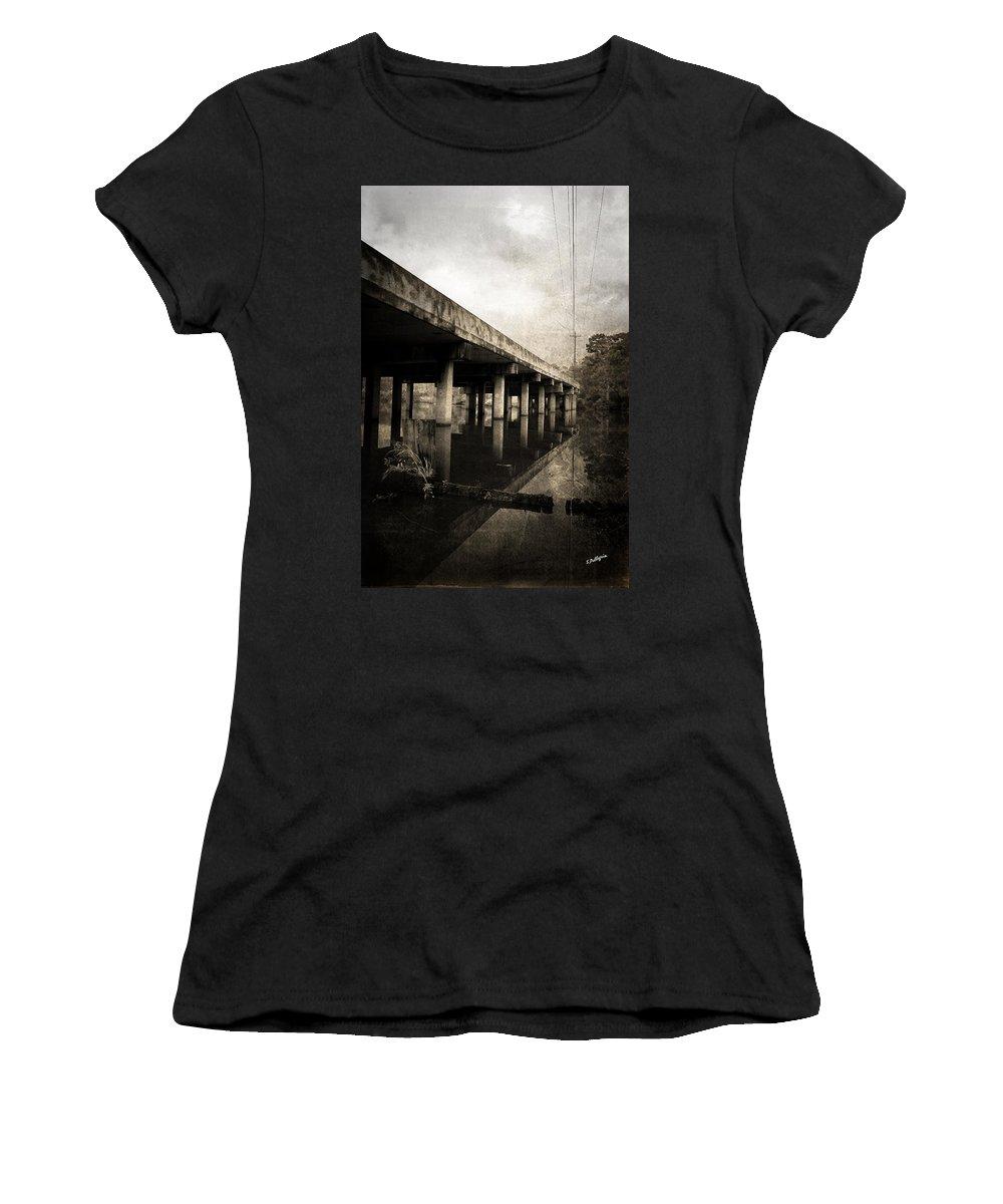 Water Women's T-Shirt featuring the photograph Bay View Bridge by Scott Pellegrin
