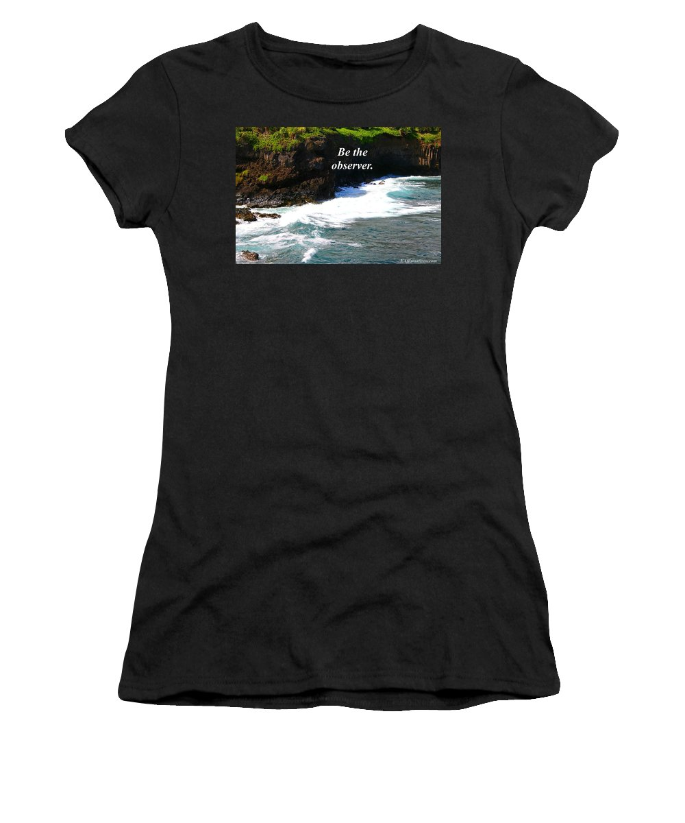Ocean Women's T-Shirt (Athletic Fit) featuring the photograph Be The Observer by Pharaoh Martin