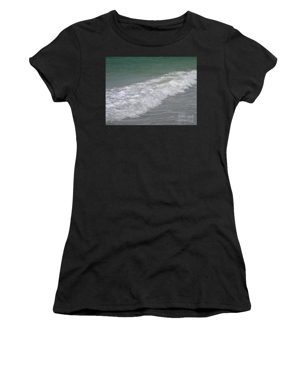 Sea Women's T-Shirt (Athletic Fit) featuring the photograph Beach 7 by Crystal Miller