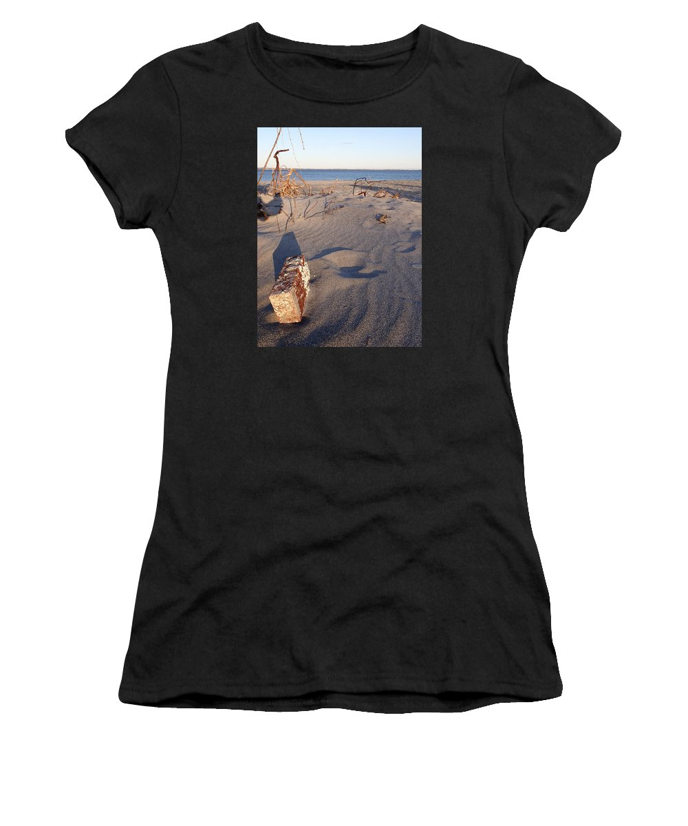 Beach Women's T-Shirt (Athletic Fit) featuring the photograph Beach Brick by Robert Nickologianis