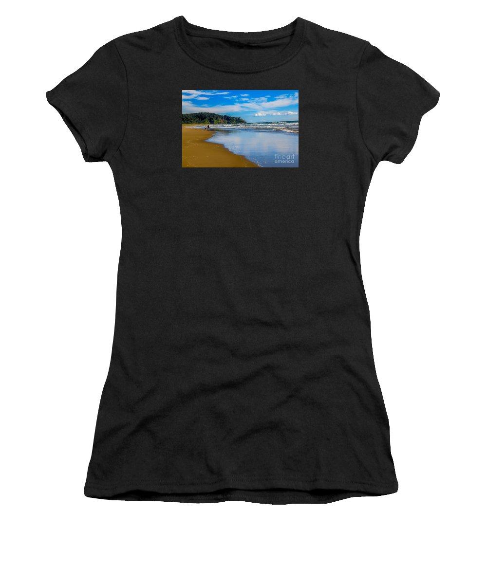 Beach Women's T-Shirt featuring the photograph Beach Fun by Robert Bales