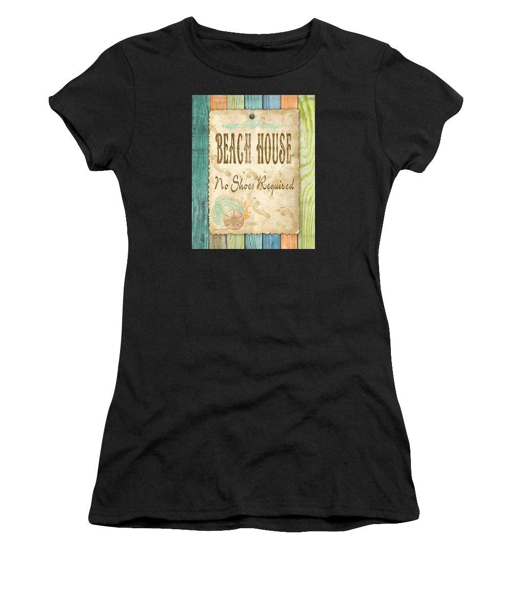 Digital Art Women's T-Shirt featuring the digital art Beach Notes-d by Jean Plout
