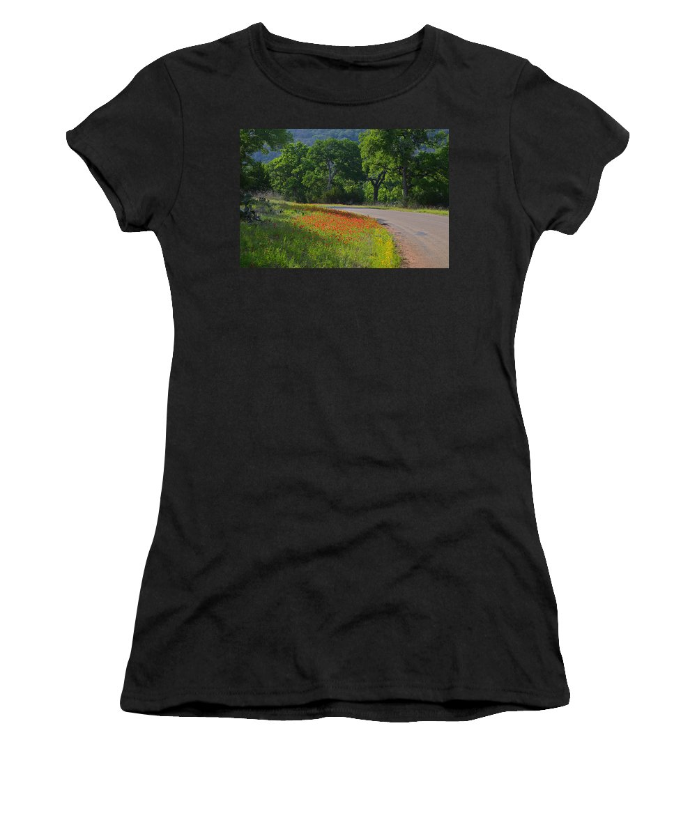 Texas Women's T-Shirt (Athletic Fit) featuring the photograph Beautiful Light On The Loop by Lynn Bauer