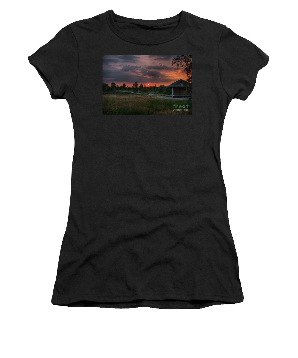 Cabin Women's T-Shirt (Athletic Fit) featuring the photograph Beautiful Sunset by Brothers Beerens