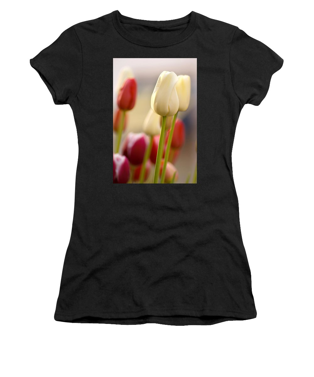 Flower Women's T-Shirt (Athletic Fit) featuring the photograph Beautiful Tulips by Benjamin Reed
