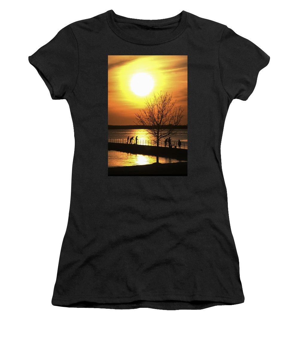 Sunrise Women's T-Shirt (Athletic Fit) featuring the photograph Beaverton Sunrise by Richard Kitchen
