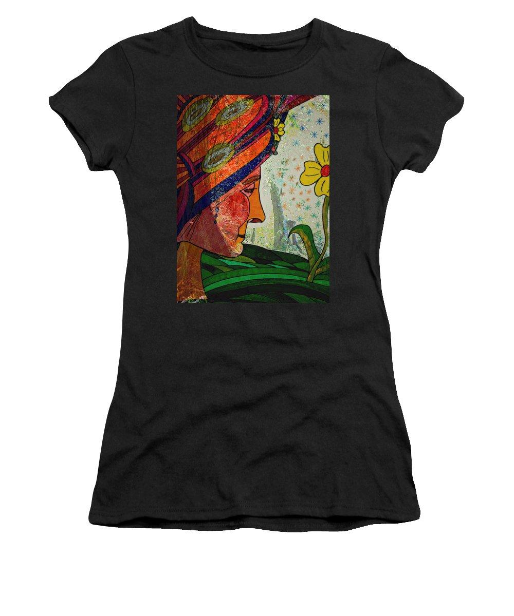Gardens Women's T-Shirt featuring the painting Becoming The Garden - Garden Appreciation by Marie Jamieson