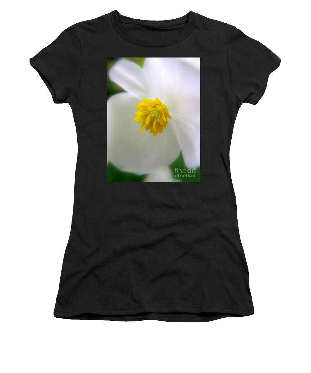 Begonia Women's T-Shirt featuring the photograph Begonia by Patti Whitten