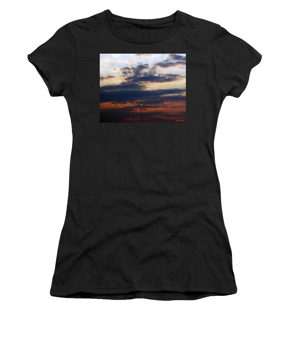 Behold The Dawn Women's T-Shirt featuring the painting Behold The Dawn by Ellen Henneke