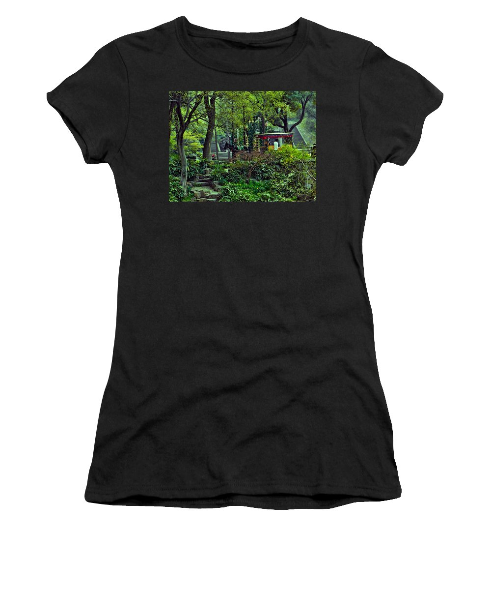 Beijing Gardens Women's T-Shirt featuring the photograph Beijing Gardens by Cathy Anderson