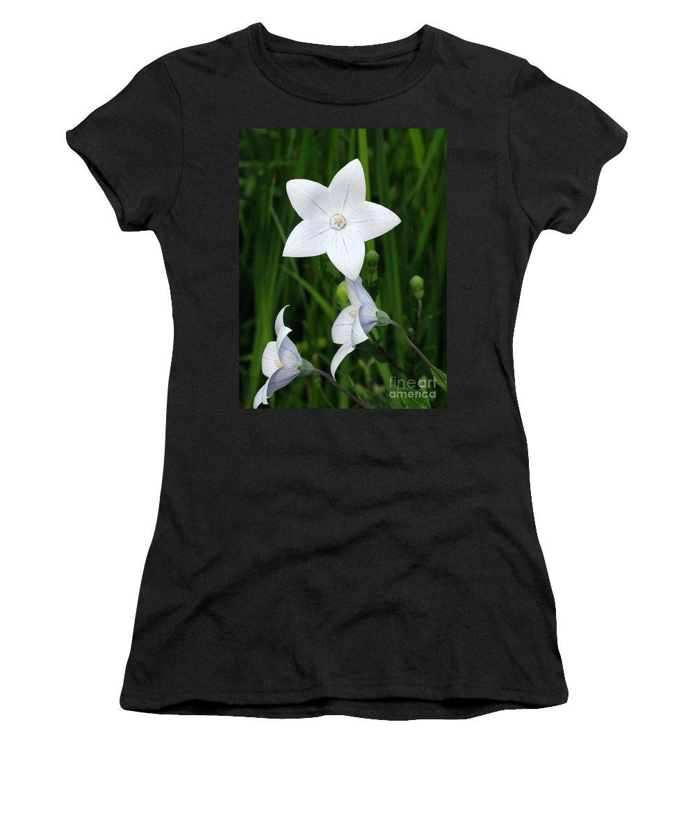 Bellflower Women's T-Shirt featuring the photograph Bellflower - Campanula Carpatica by Ann Horn