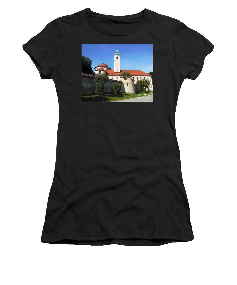 Melk Women's T-Shirt featuring the photograph Benedictine Abbey by Lisa Kilby