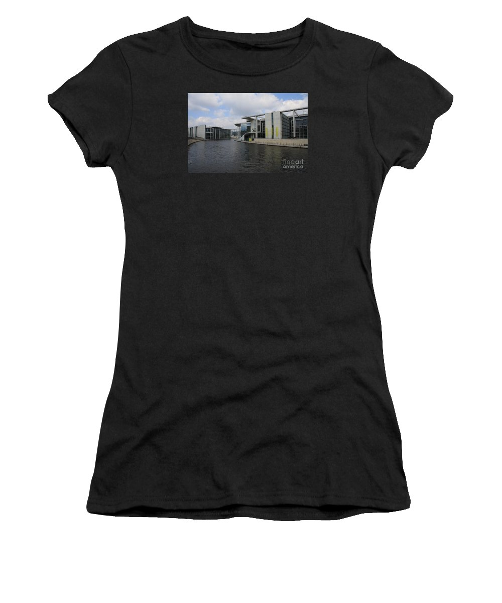 Government Building Women's T-Shirt (Athletic Fit) featuring the photograph Berlin Government Building by Christiane Schulze Art And Photography