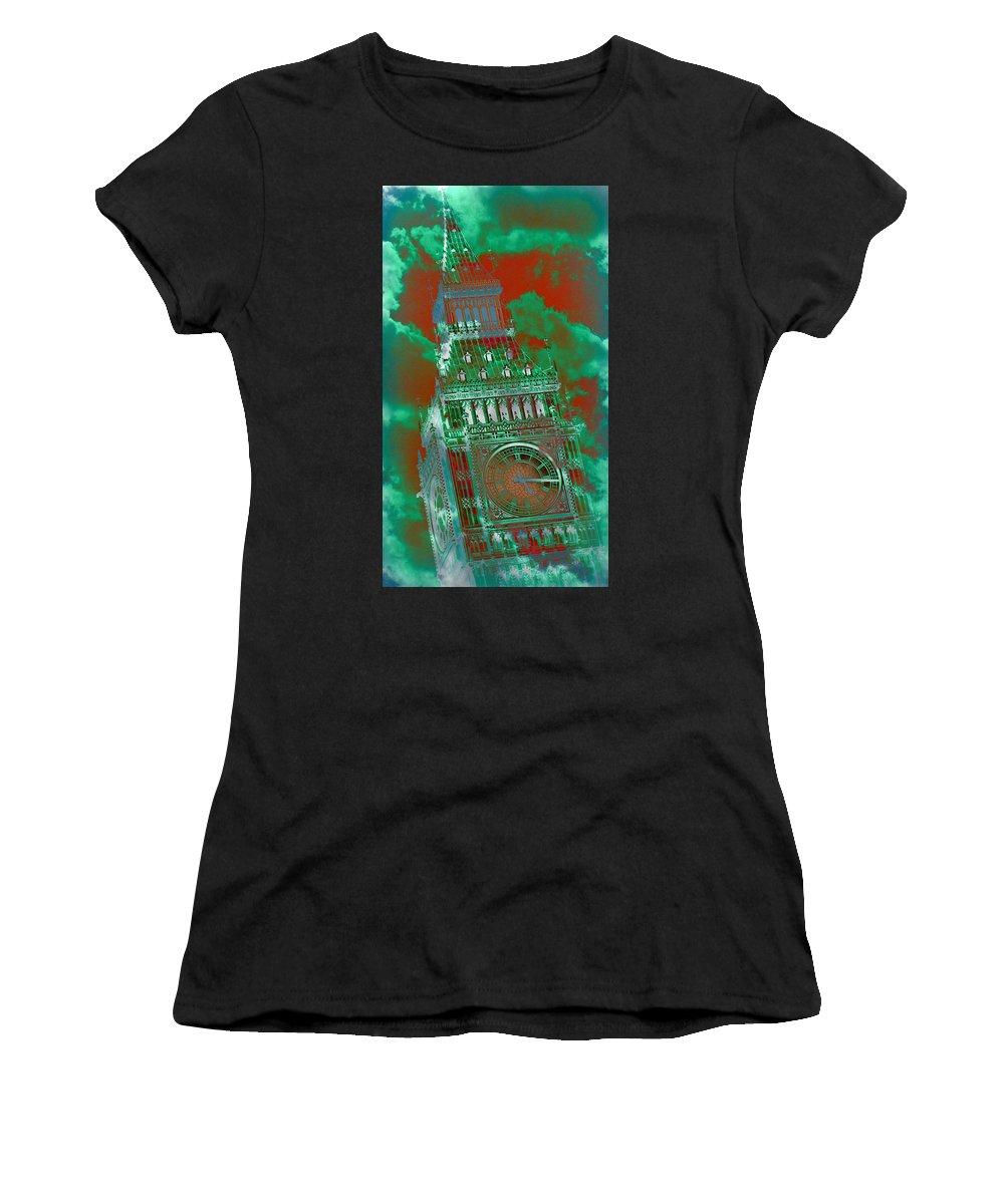 Big Ben Women's T-Shirt featuring the photograph Big Ben 16 by Stephen Stookey
