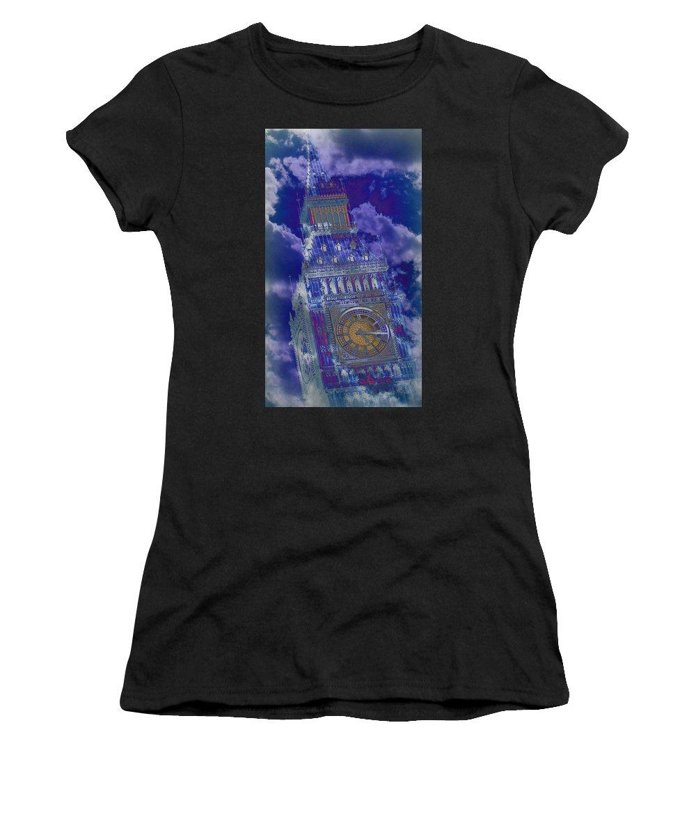 Big Ben Women's T-Shirt featuring the photograph Big Ben 17 by Stephen Stookey