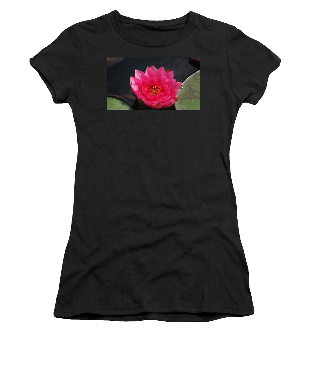 Red Women's T-Shirt (Athletic Fit) featuring the photograph Big Red Glory by Rob Luzier