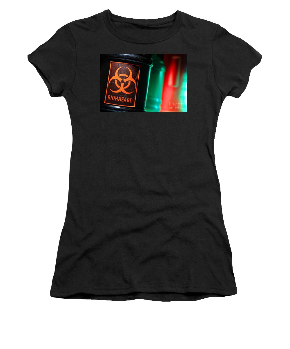 Biohazard Women's T-Shirt featuring the photograph Biohazard by Olivier Le Queinec