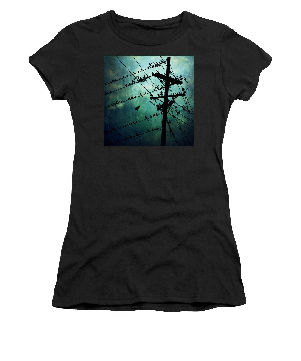 Pattern Women's T-Shirt featuring the photograph Bird City by Trish Mistric
