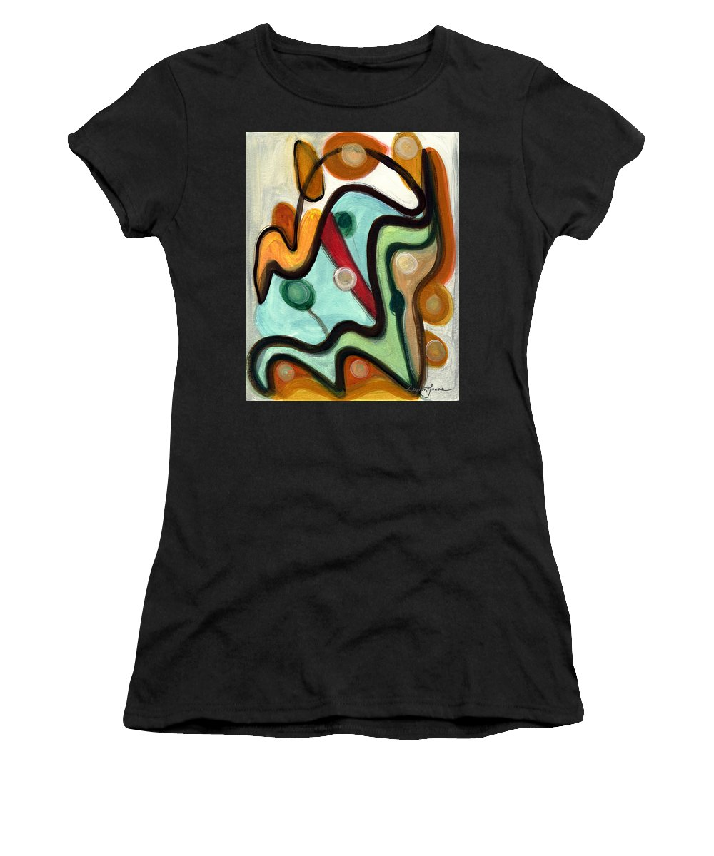 Abstract Art Women's T-Shirt featuring the painting Birds In Flight by Stephen Lucas