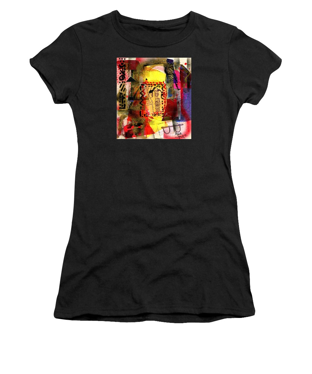 Everett Spruill Women's T-Shirt (Athletic Fit) featuring the painting Biteke Fetish by Everett Spruill