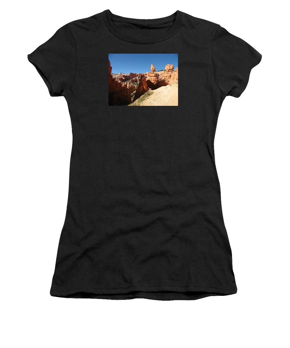 Canyon Women's T-Shirt (Athletic Fit) featuring the photograph Bizarre Shapes - Bryce Canyon by Christiane Schulze Art And Photography