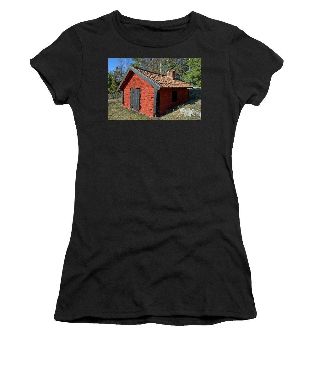 Blacksmiths Workshop Women's T-Shirt featuring the photograph Blacksmiths Workshop by Torbjorn Swenelius