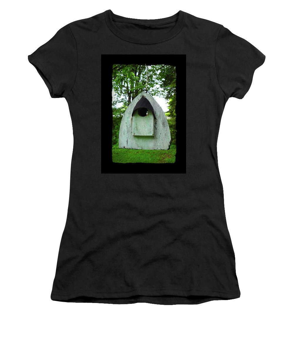 Bird House Women's T-Shirt (Athletic Fit) featuring the photograph Bless This Nest by Jane Alexander