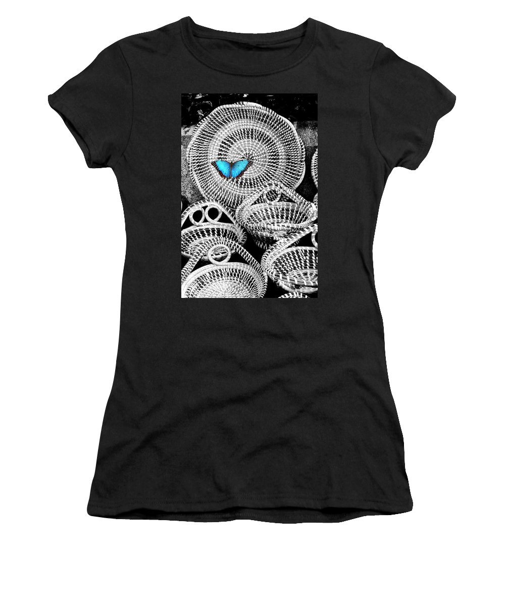 Charleston Women's T-Shirt featuring the photograph Blue Butterfly Charleston by William Dey