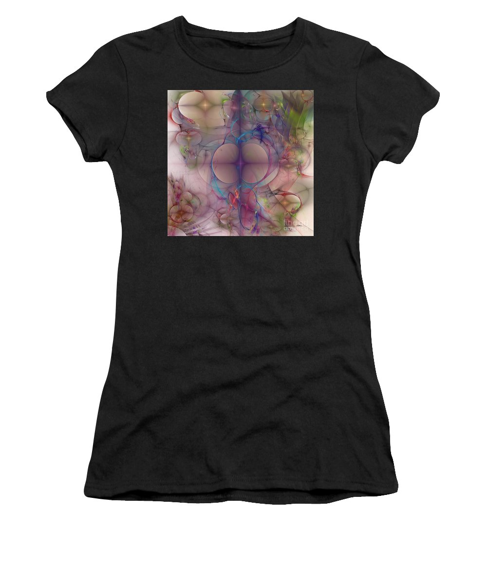 Booty Women's T-Shirt featuring the digital art Bootyful - Square Version by John Beck