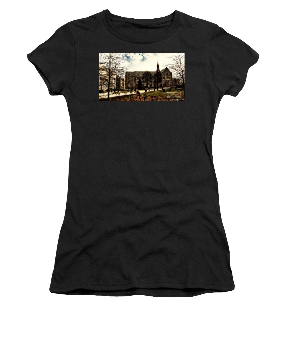 C Women's T-Shirt (Athletic Fit) featuring the photograph Boston College by Douglas Barnard
