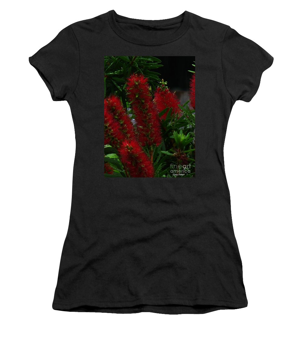 Patzer Women's T-Shirt (Athletic Fit) featuring the photograph Bottle Brush by Greg Patzer
