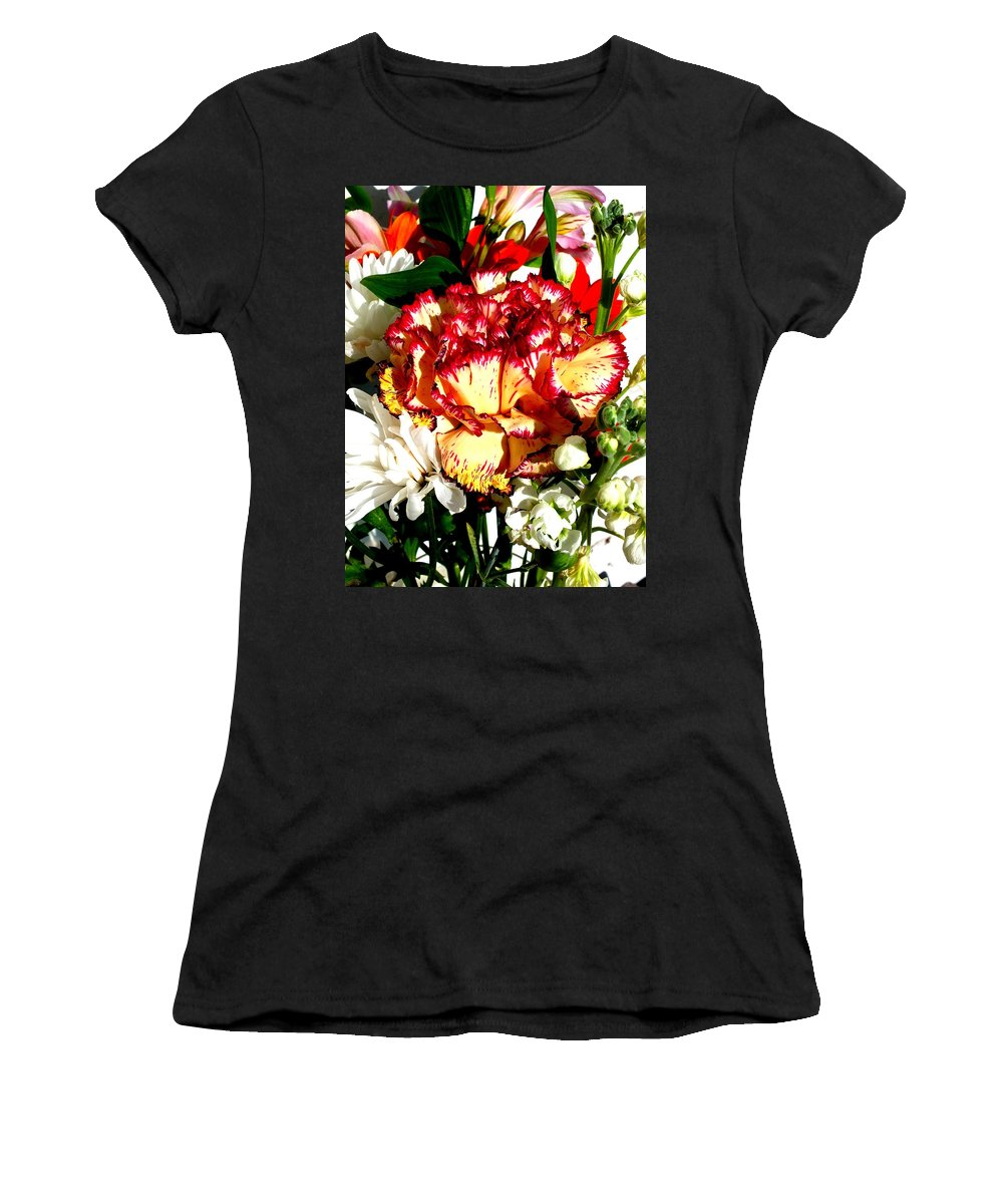 Vase Women's T-Shirt featuring the photograph Bouquet by Guy Pettingell