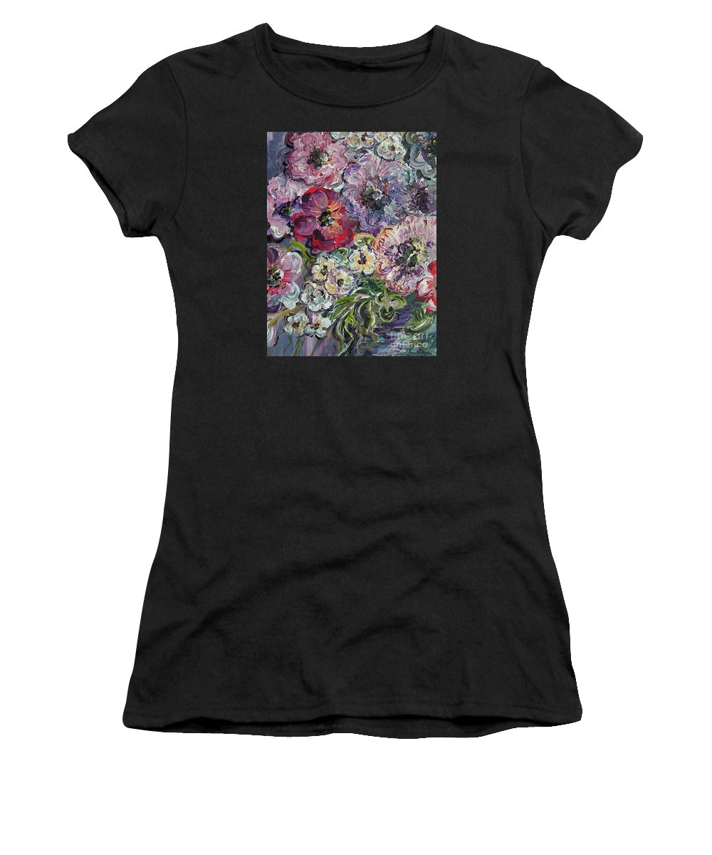 Flower Women's T-Shirt featuring the painting Bouquet Of Sweetness by Eloise Schneider Mote