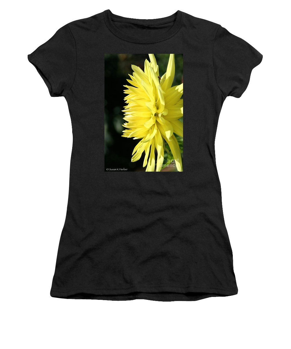 Flower Women's T-Shirt featuring the photograph Brilliant Mornings by Susan Herber
