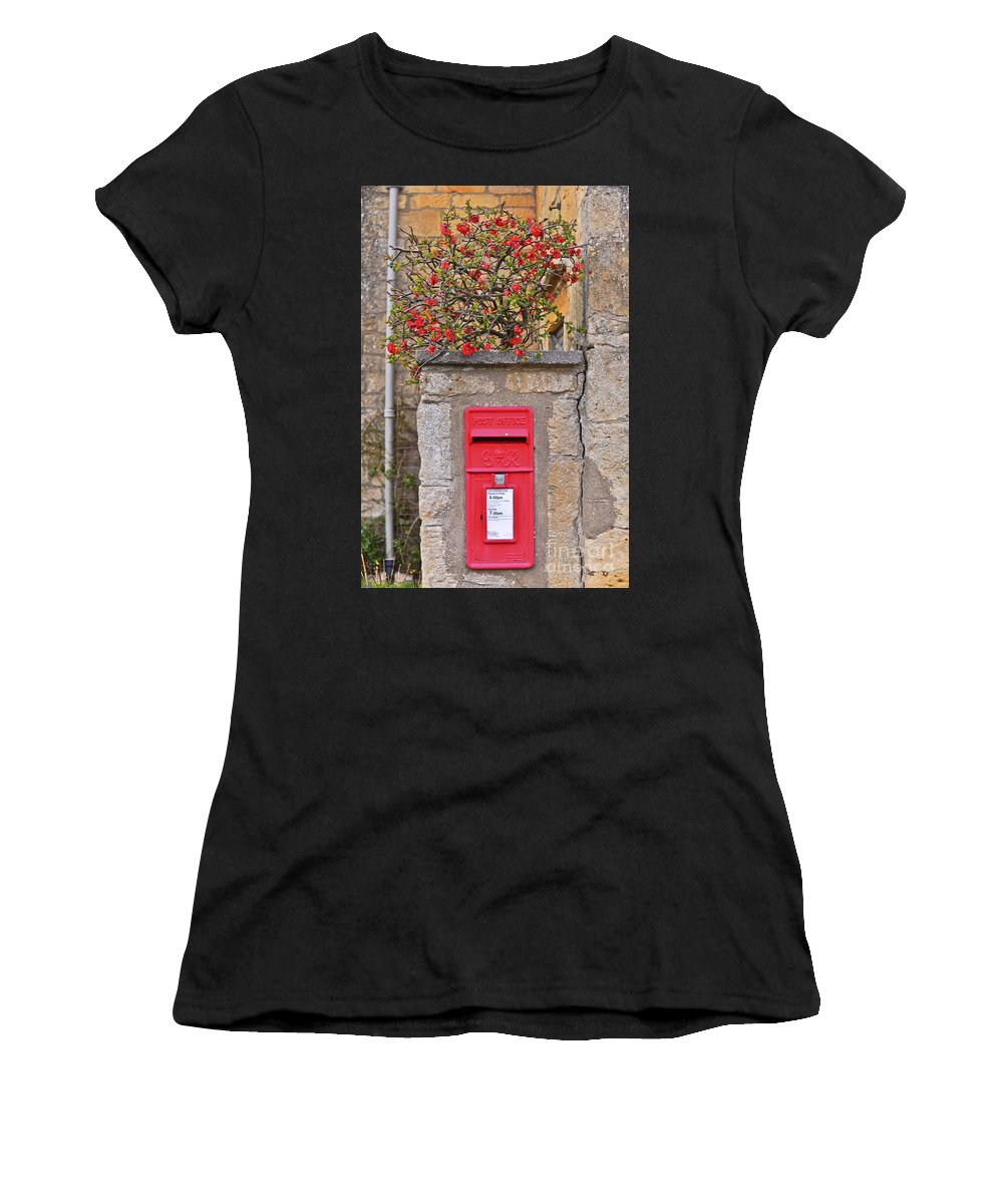 Travel Women's T-Shirt (Athletic Fit) featuring the photograph British Post by Elvis Vaughn